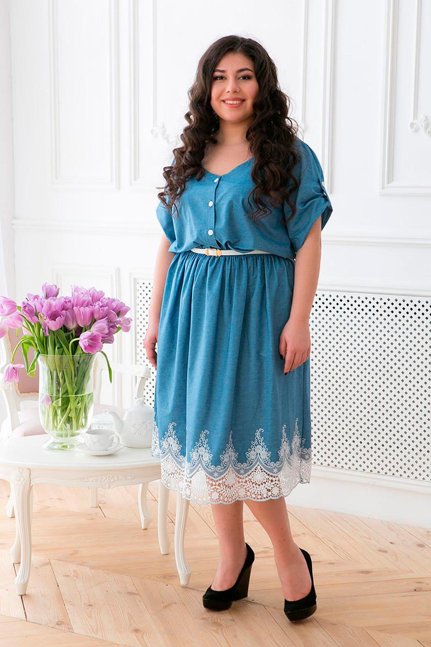 94c6ebf31950033 Модное платье на лето больших размеров Данели - DS Moda - женская одежда  оптом от производителя