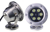 Светильник подводный  LED 6х2W  Белый  12V размер 120мм*140мм IP68