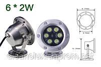 Светильник подводный  LED 12W RGB  12V размер 120мм*140мм IP68, фото 4