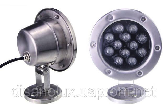 Светильник подводный  LED  24W  Белый  12V размер 160мм*215мм IP68