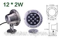 Светильник подводный  LED  24W  Белый  12V размер 160мм*215мм IP68, фото 2