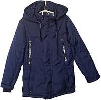 """Куртка подростковая демисезонная """"Zixing"""" #8602 для мальчиков. 8-9-10-11-12 лет. Синяя. Оптом., фото 1"""