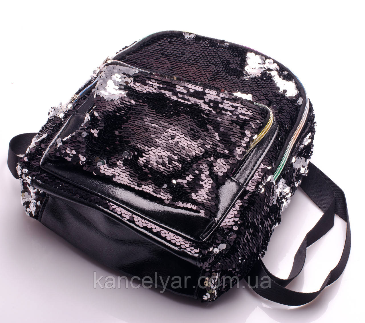 Рюкзак с пайетками, 23х22х15 см, в ассортименте