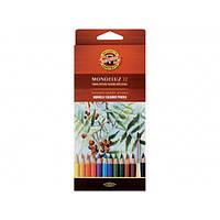Карандаши акварельные цветные Koh-i-Noor Mondeluz 3716 12 цв.