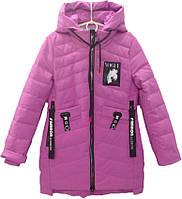 """Куртка подростковая демисезонная """"Vogue"""" #BM-819 для девочек. 8-9-10-11-12 лет. Сиреневая. Оптом., фото 1"""