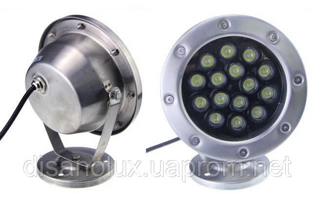Светильник подводный  LED  30W  Белый  12V размер 174мм*205мм IP68