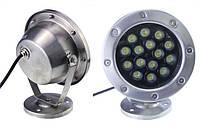 Светильник подводный  LED 15х2W  Белый  12V размер 174мм*205мм IP68