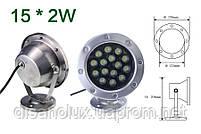 Светильник подводный  LED  30W  Белый  12V размер 174мм*205мм IP68, фото 2