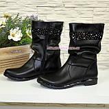 Ботинки кожаные декорированы стразами, фото 3