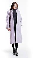 Стильное молодежное пальто цвета лаванды