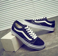 Vans Old Skool Black \ ванс олд скул \ слипоны \ кеды