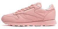 Женские оригинальные кроссовки Reebok Classic Leather Pastels (Рибок Классик) бежевые