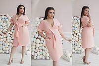 Платье креп-костюмка Мод 351 батал (AMBR)