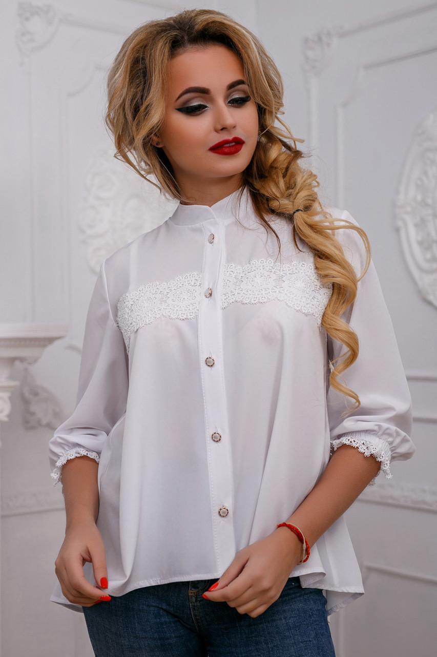 e2e1165871b Красивая женская блуза с кружевом свободного кроя 44-50 размера - 💎TM