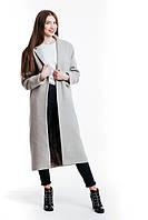 Стильное женское пальто оверсайз из натуральной немецкой шерсти