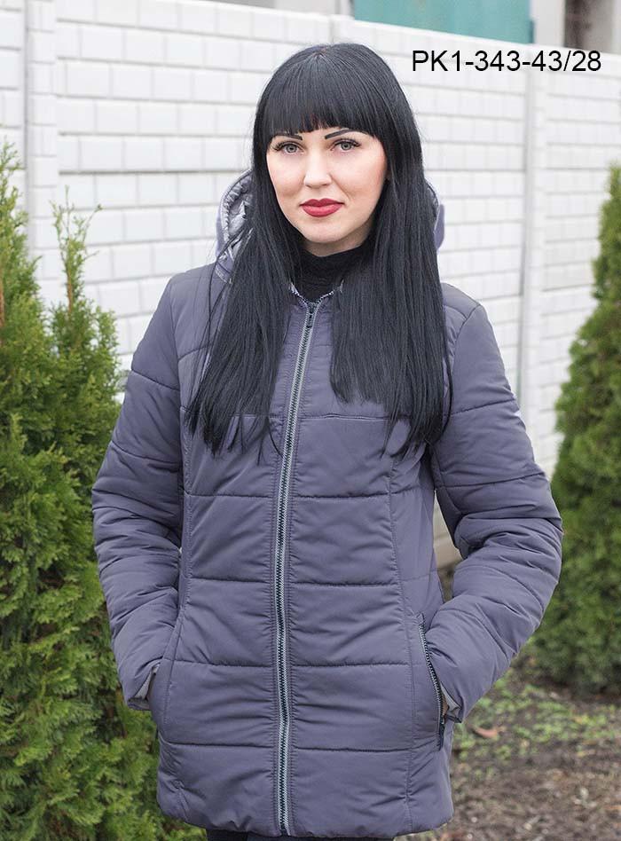 3eb8f2080e12 Женская демисезонная короткая куртка   размер 48-58   цвет слива - ⭐Я-