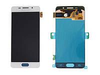Дисплей модуль Samsung A310F Galaxy A3 (2016) #GH97-18249A в зборі з тачскріном, білий