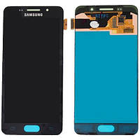 Дисплей Samsung A310F Galaxy A3 (2016) # GH97-18249B модуль в сборе с тачскрином, черный