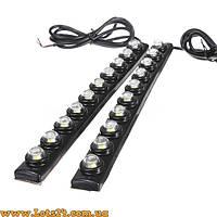 Гибкие дневные ходовые огни 10 LED линз (ДХО, DRL, светодиодная лента)