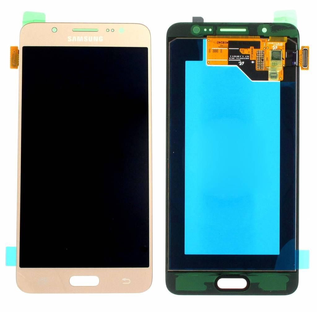 Дисплей модуль Samsung J510H/DS Galaxy J5 (2016) #GH97-18792A/GH97-19466A в зборі з тачскріном, золотистий