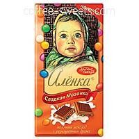 Шоколад молочный Красный Октябрь Аленка сладкая мозаика с разноцветными драже 100г