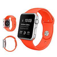 Силиконовый ремешок для Apple Watch Sport 42 mm Оранжевый ( Orange)