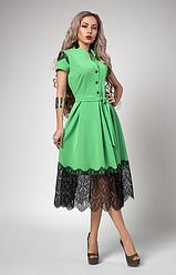 """Шикарное платье  """"Вилена"""" цвет яблоко"""