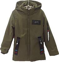 """Куртка подростковая демисезонная """"Chun Xu"""" #808 для мальчиков. 9-10-11-12-13 лет. Коричнево-зеленая. Оптом., фото 1"""