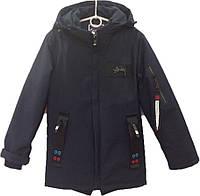 """Куртка подростковая демисезонная """"Chun Xu"""" #808 для мальчиков. 9-10-11-12-13 лет. Темно-синяя. Оптом., фото 1"""