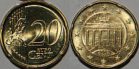 Монета 20 евроцентов Германия 2002г.