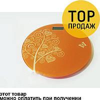 Весы напольные цветные стеклянные (круглые) на 150 кг / Стеклянные электронные весы