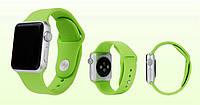 Силиконовый ремешок для Apple Watch Sport 42 mm Фисташковый (Green)