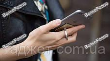 Кольцо держатель в серебряном цвете для смартфона, фото 3