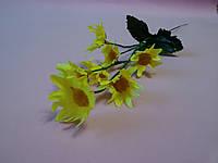 Веточка ромашек желтых 35 см