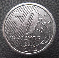 Бразилия 50 сентаво 2009г.