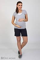 Широкие шорты для беременных индиго Тресси