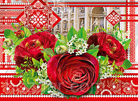 Пакет подарочный бумажный крафт большой горизонтальный 36х25х10 (26-044)