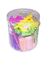 Набор для творчества Тесто для лепки в тубе 22 цвета