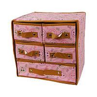 Складной органайзер с ящиками для хранения нижнего белья Розовый
