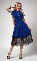 """Шикарное платье """"Вилена"""" размер 50,52 электрик"""