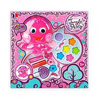 Набор детской косметики 10384D осьминог, 2 яруса, тени, помада, лак, заколочки