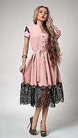 "Шикарное платье ""Вилена"" размер 50,52 пудра"