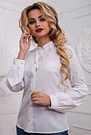 Модная блузка прилегающего силуэта з жемчугом 42-48 размера