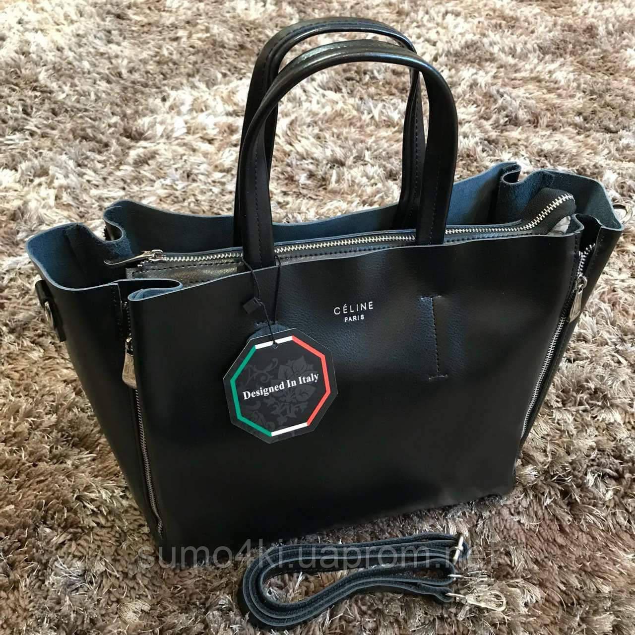 Женская кожаная стильная сумка Celine Селин, фото 1