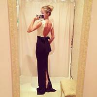 Платье в пол сзади разрез спинка открыта
