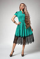Нарядное женское платье с французским кружевом, фото 1