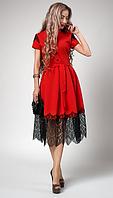 """Шикарное платье """"Вилена"""" размер 44,52 красное"""