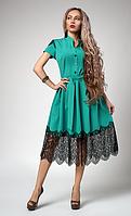 "Шикарное платье ""Вилена"" размер 44,46,48 бирюза"