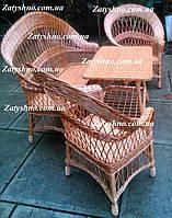 Мебель из дерева и лозы