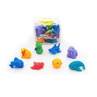 Животные 328133  для купания, морские, 8шт, от 5см, брызгалка, в сумке, 15-15-5см